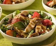 Chicken Recipe : Strawberry Spinach Salad with Chicken