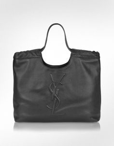 Yves Saint Laurent Belle du Jour - Logo Leather Tote Bag