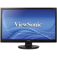 LCD Monitor Screen Full HD 1080p LED-Lit 22 Inch Stereo Speaker DVI VGA Inputs #ViewSonic