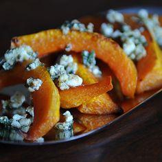 Caramelized Butternut Squash Wedges with a Sage Hazelnut Pesto recipe on Food52