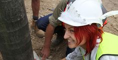 Project Manager, Amanda Gibson Amanda wearing her trademark tiara-hard hat