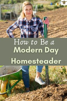 """Do you want to be more self-sufficient? Grow some of your own food? Be more independent? Well, check out """"How to Be a Modern Day Homesteader"""" will help you to get started or to make your homestead more efficient! #howtobesustainable #howtobemoresustainable Homestead Farm, Homestead Living, Farms Living, Sustainable Gardening, Sustainable Living, Natural Living, Simple Living, Pioneer Life, Living Off The Land"""