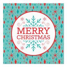 Mid Century Modern Christmas Invitations & Announcements   Zazzle