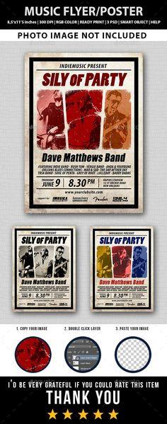 Music Flyer Templates | 874 Best Concert Flyer Templates Images Concert Flyer Card