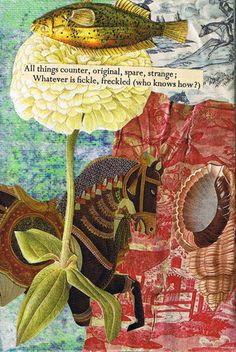 Expressive Art Therapy Activity # 11- Found Poetry Collage by Shelley Klammer