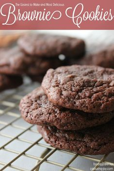 Brownie Cookies for a quick chocolate fix! The perfect easy kids recipe!