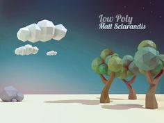 Low Poly Fun by Matt Sclarandis, via Behance