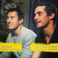Patrick Chan(Canada) and Javier Fernandez(Spain)