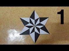 275 Origami 종이접기 (Star) 2 -1  색종이접기  折纸 оригами 摺紙  折り紙  اوريغامي