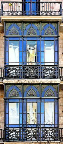stunning windows Barcelona - Bailèn 009  by Arnim Schulz, via Flickr