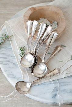 Love the warm, subtle patina on vintage cutlery -- so much more pleasing than stainless steel!