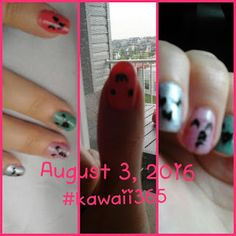 It Started With the Library...: Kawaii Project for August 3 - Nail Art