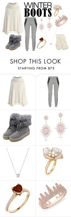 """""""Warm And Cozy"""" by quotevlover07 ❤ liked on Polyvore featuring Chicwish, Lot78, WithChic, Anne Sisteron, Links of London and Ross-Simons"""