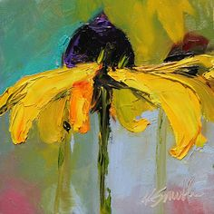 Impressionistic blackened Susan...kim smith art