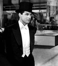 Cary Grant in a Top hat and tails. Almost too much to handle!