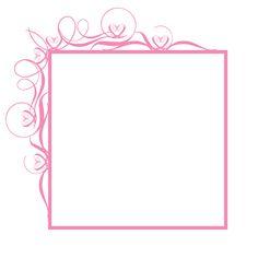 Fancy Flourish Square Frame