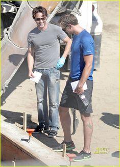Alexander Skarsgard & Stephen Moyer: Cement Truck Scene!