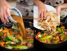 Kung pao: recept na rychlou večeři s kuřecím masem a zeleninou Orzo, Japchae, Ethnic Recipes, Food, Essen, Meals, Yemek, Eten