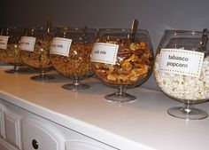 """could use for wedding or bar/bat mitzvah """"salty snack"""" bar"""