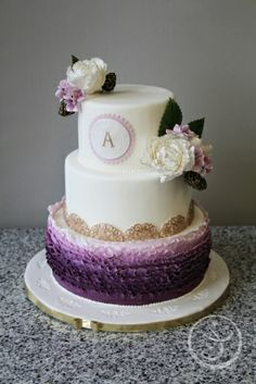 Wedding Cake by Angelique Obermeyer made as part of The French Pastry School's L'Art du Gâteau program.