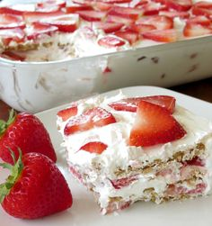 Strawberry Icebox Cake - 4/5/15 we followed this recipe exactly and it was great!!  It was easy to make and I will definitely make it again!