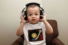 Turntable Toddler Tee by anaapple on Etsy, $35.00