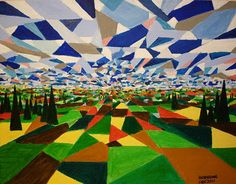 "This painting is called ""Mosaic landscape"""