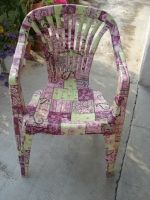 Country Love Crafts - Outdoors Bottle Painting, Bottle Art, Arts And Crafts, Paper Crafts, Diy Crafts, Decopatch Ideas, Le Pilates, Decoupage Furniture, Lawn Chairs