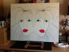 Annet's Art: Duplo, acryl op mdf 60 x 80 cm  Work in progress