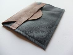 DIY Leather Envelope Clutch Tutorial by Kate Smalley