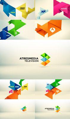 Rediseño de la identidad corporativa del Grupo Antena 3 #Atresmedia vía @A3MediaTV