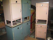 found on estatesales net old metal medical cabinet craft room