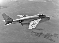 The Bell X-5 gave NACA and Air Force researchers a chance to test out variable-sweep wings. In this case, the sweep of the wings could be shifted--in flight, no less--between 20 degrees and 60 degrees. The more swept-back the wing angle, the less the drag and the better for flight approaching supersonic speed. The powered transition took about 20 seconds, and, if needed, the pilot could hand-crank the wings into the more forward position (more perpendicular to the fuselage) for landing.