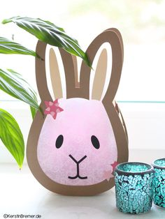 Ebook / Bastelanleitung Hase Sterne Laterne Rabbit star lantern crafting instructions with craft tem Monster Cookie Bars, Star Lanterns, Lantern Festival, Diy Box, Diy Table, Kid Beds, Diy Crafts To Sell, Pin Collection, Christmas Diy