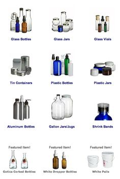 {bottles, #jars, vials, oh my!} website w/ great pricing on variety of containers for projects.
