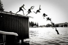 Plongeon à la Muybridge