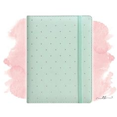 A5 Planner binder with dots in mint at TanyaBrittany shop