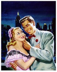 Rooftop Romance, 1947. #vintage #1940s #couples