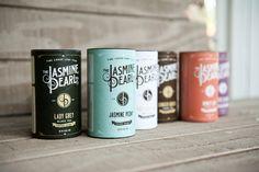 Jasmine Pearl loose leaf tea packaging on the dieline