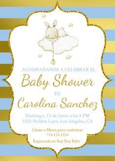 Spanish Baby Shower, Español Baby Shower, Es Niño Invitación,, Baby Shower Template, Baby Shower Conejito, Baby Shower Invitación Niño, Niño