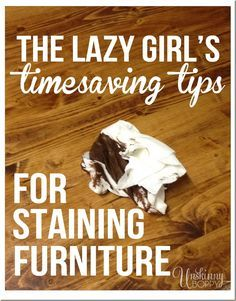 Easy tips for staining unfinished wood. Love the warmth of stain but scared to try it out? Don't be! Follow these quick tips and you'll be a wood staining expert in no time.