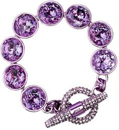 Multi Gemstone Pave Toggle Bracelet - Juicy Couture - Polyvore