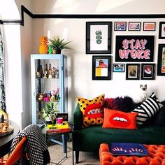 Living Room Decor, Living Spaces, Bedroom Decor, Pop Art Bedroom, New Room, House Rooms, Apartment Living, Home Interior Design, Home And Living