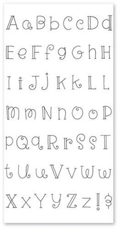 6 Alphabet Patterns For Hand Embroidery Crafts Pinterest