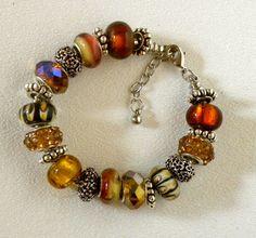 European Charm Bracelet by bdzzledbeadedjewelry on Etsy, $37.00