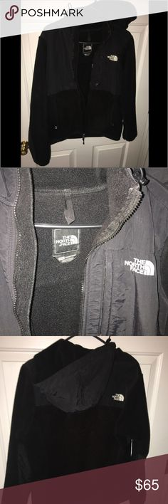 North Face Hooded Jacket Black with hood. GREAT condition. North Face Tops Sweatshirts & Hoodies
