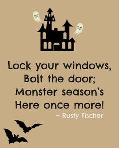 Monster season... A Halloween poem