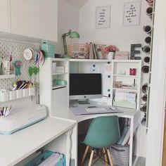 BRUSALI, Corner desk, white, You can customise your storage as needed, since the shelves are adjustable. Bedroom Desk, Room Design Bedroom, Room Ideas Bedroom, Bedroom Storage, Girls Bedroom, Study Room Decor, Cute Room Decor, Home Office Design, Home Office Decor