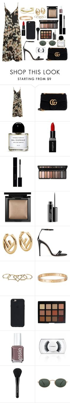 """2085"" by thecaitlinpeters ❤ liked on Polyvore featuring WYLDR, Gucci, Byredo, Smashbox, Bare Escentuals, MAC Cosmetics, Fendi, Zimmermann, Cartier and Morphe"