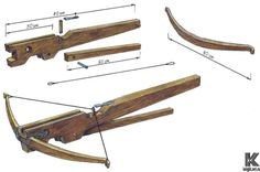 Вокруг света How to Make a Crossbow. Build the Crossbow Step-by-Step. Making a crossbow from the longbow. Make a Crossbow from Scratch Homemade Crossbow, Diy Crossbow, Homemade Weapons, Crossbow Arrows, Crossbow Hunting, Homemade Shotgun, Survival Weapons, Survival Tools, Survival Prepping